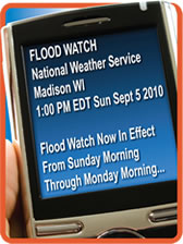Severe Weather Alerts Sent To Cell Phone