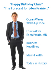 """Happy Birthday Chris, The Forecast for Eden Prairie..."